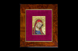 Mosaico : Madonna Bizantina 10×14