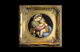 Mosaico : Madonna Seggiola ovale