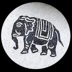 Mosaico: Elefante – Tondo