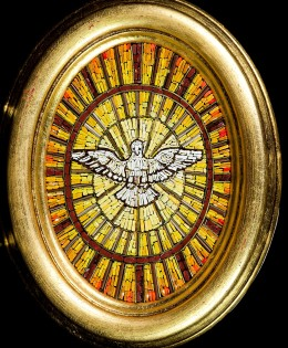 Mosaico: Spirito Santo – ovale
