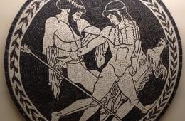 Mosaico: Zeus e Ganimede – Tondo